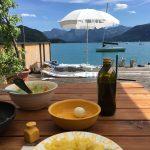 Mittagessen im Sommer